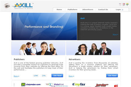 Axill CPM ad network