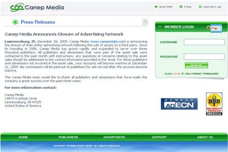 Canep Media  CPM ad network