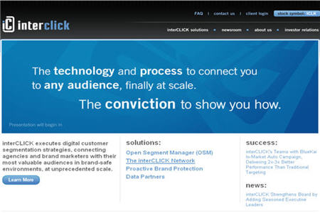 InterClick Best CPM ad network