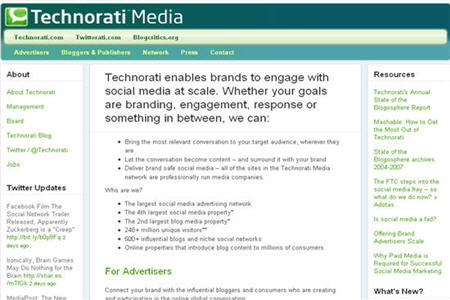 Technorati Media CPM ad network