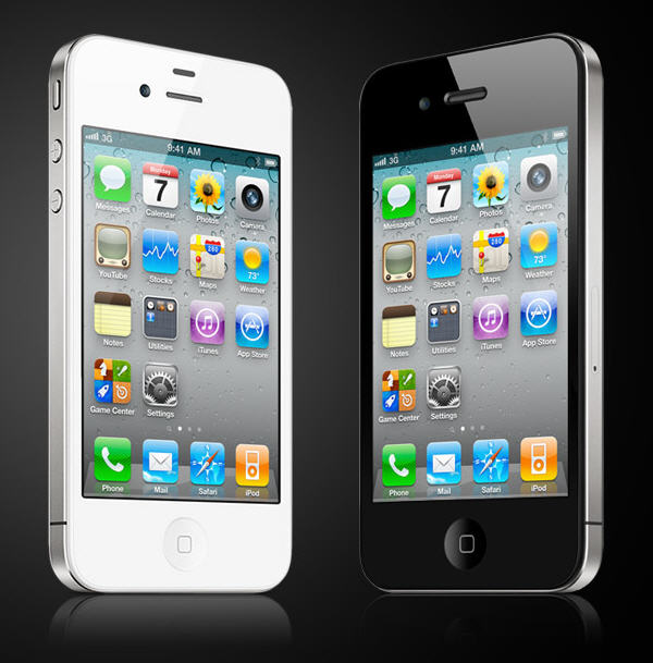 Apple iPhone 4 white and black comparison