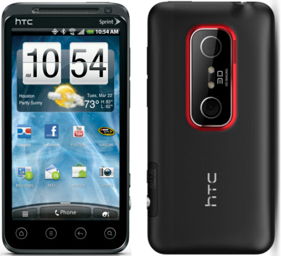 htc evo 3d smartphone and htc evo view 4g android tablet by sprint rh etechbuzz com HTC EVO 3D Model HTC EVO 3D 4G Review