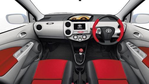 Toyota Etios Liva car interior